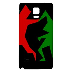 Ninja Graphics Red Green Black Galaxy Note 4 Back Case