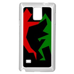 Ninja Graphics Red Green Black Samsung Galaxy Note 4 Case (white)