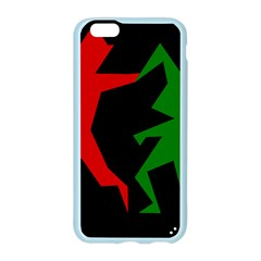 Ninja Graphics Red Green Black Apple Seamless iPhone 6/6S Case (Color)