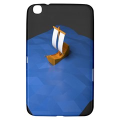 Low Poly Boat Ship Sea Beach Blue Samsung Galaxy Tab 3 (8 ) T3100 Hardshell Case