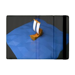 Low Poly Boat Ship Sea Beach Blue iPad Mini 2 Flip Cases