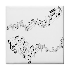 Music Note Song Black White Tile Coasters