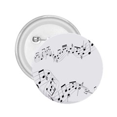 Music Note Song Black White 2.25  Buttons