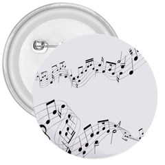 Music Note Song Black White 3  Buttons