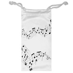 Music Note Song Black White Jewelry Bag