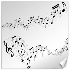 Music Note Song Black White Canvas 12  x 12