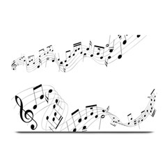 Music Note Song Black White Plate Mats