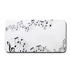 Music Note Song Black White Medium Bar Mats