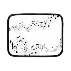 Music Note Song Black White Netbook Case (Small)