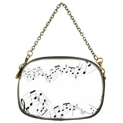 Music Note Song Black White Chain Purses (One Side)