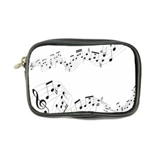 Music Note Song Black White Coin Purse