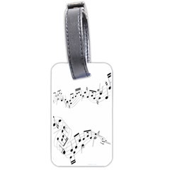 Music Note Song Black White Luggage Tags (Two Sides)
