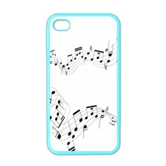 Music Note Song Black White Apple iPhone 4 Case (Color)