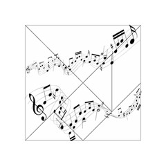 Music Note Song Black White Acrylic Tangram Puzzle (4  x 4 )