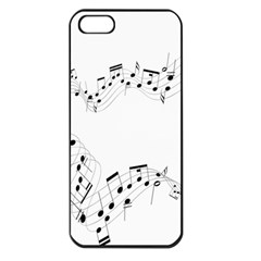 Music Note Song Black White Apple iPhone 5 Seamless Case (Black)