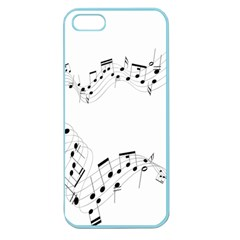 Music Note Song Black White Apple Seamless Iphone 5 Case (color)