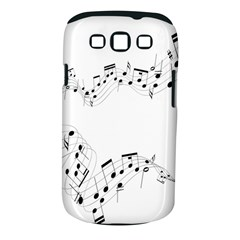 Music Note Song Black White Samsung Galaxy S III Classic Hardshell Case (PC+Silicone)