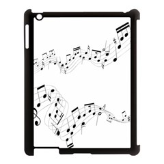 Music Note Song Black White Apple iPad 3/4 Case (Black)