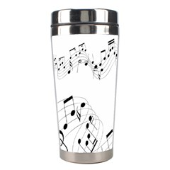 Music Note Song Black White Stainless Steel Travel Tumblers