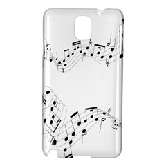 Music Note Song Black White Samsung Galaxy Note 3 N9005 Hardshell Case