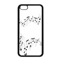 Music Note Song Black White Apple iPhone 5C Seamless Case (Black)