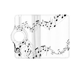 Music Note Song Black White Kindle Fire HD (2013) Flip 360 Case