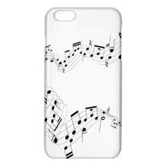 Music Note Song Black White iPhone 6 Plus/6S Plus TPU Case