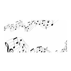 Music Note Song Black White Satin Wrap