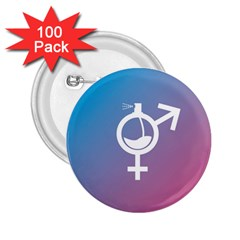 Perfume Graphic Man Women Purple Pink Sign Spray 2.25  Buttons (100 pack)