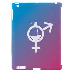 Perfume Graphic Man Women Purple Pink Sign Spray Apple iPad 3/4 Hardshell Case (Compatible with Smart Cover)