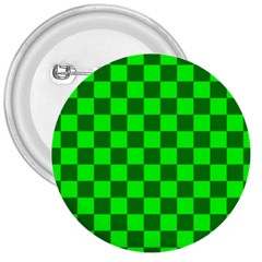 Plaid Flag Green 3  Buttons