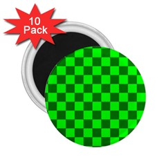 Plaid Flag Green 2.25  Magnets (10 pack)