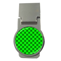 Plaid Flag Green Money Clips (Round)