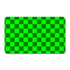 Plaid Flag Green Magnet (Rectangular)