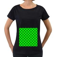 Plaid Flag Green Women s Loose Fit T Shirt (black)