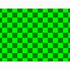 Plaid Flag Green Canvas 18  x 24