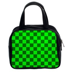 Plaid Flag Green Classic Handbags (2 Sides)