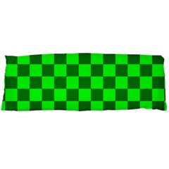 Plaid Flag Green Body Pillow Case Dakimakura (Two Sides)