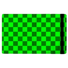 Plaid Flag Green Apple iPad 3/4 Flip Case