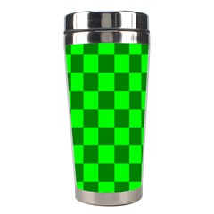Plaid Flag Green Stainless Steel Travel Tumblers
