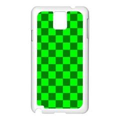 Plaid Flag Green Samsung Galaxy Note 3 N9005 Case (White)
