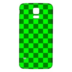 Plaid Flag Green Samsung Galaxy S5 Back Case (White)