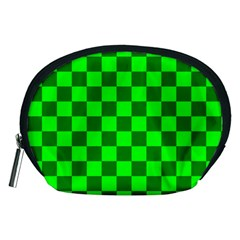 Plaid Flag Green Accessory Pouches (Medium)