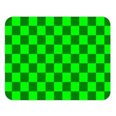 Plaid Flag Green Double Sided Flano Blanket (Large)