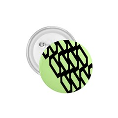 Polygon Abstract Shape Black Green 1.75  Buttons