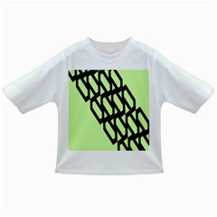 Polygon Abstract Shape Black Green Infant/Toddler T-Shirts
