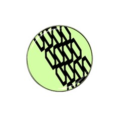 Polygon Abstract Shape Black Green Hat Clip Ball Marker