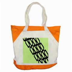 Polygon Abstract Shape Black Green Accent Tote Bag