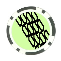Polygon Abstract Shape Black Green Poker Chip Card Guard (10 pack)