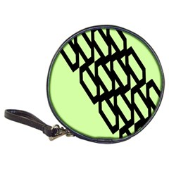Polygon Abstract Shape Black Green Classic 20-CD Wallets